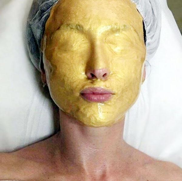 Альгинатная маска с золотом и коллагеном